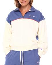 Champion - Campus French Terry 1/2 Zip Mock Neck Pullover-2684760