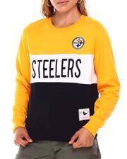 NBA MLB NFL Gear - Steelers Color Block Crew Neck Sweatshirt-2685460