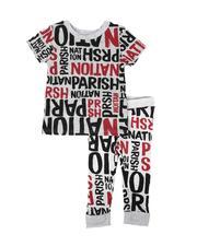 Parish - 2 Pc All Over Verbiage Print Tee & Jogger Pants Set (2T-4T)-2685319