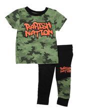 Parish - 2 Pc Camo Tee & Jogger Pants Set (8-20)-2685339