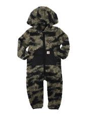 Carhartt - Sherpa Long Sleeve Zip-Front Camo Coveralls (3-24Mo)-2685785