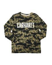 T-Shirts - Knit Long Sleeve Crew Neck Camo T-Shirt (8-20)-2685820