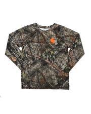 T-Shirts - Force Knit Long Sleeve Crew Neck Pocket Camo T-Shirt (8-20)-2685824