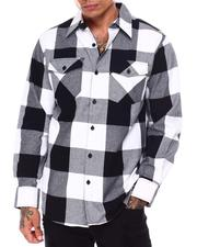 Button-downs - Buffalo Plaid Flannel Shirt-2685577