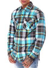 Button-downs - Tri-color Plaid Shirt-2685498