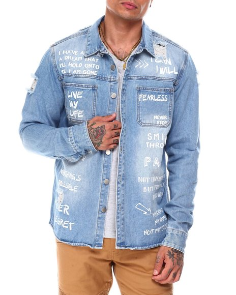Buyers Picks - This is who I am Scribble Denim Jacket