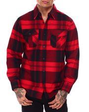 Button-downs - Plaid Flannel Shirt-2685266