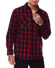 Button-downs - Window Pane Flannel Shirt-2685402