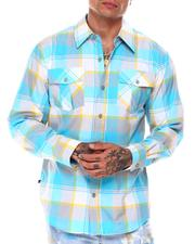 Button-downs - Tri Color Box Plaid Shirt-2685493