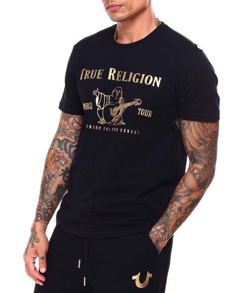 True Religion - METALLIC BUDDHA CREW TEE