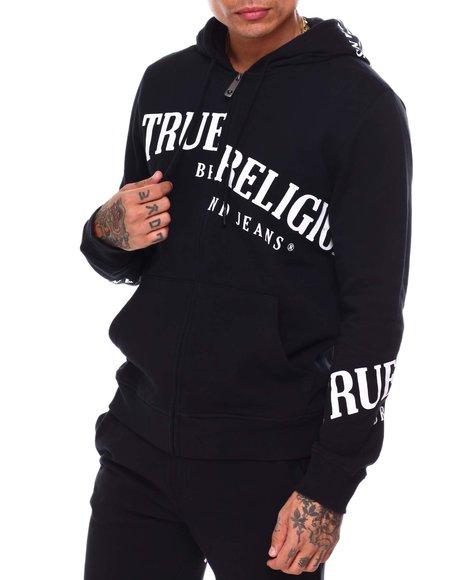 True Religion - ZIP UP HOODIE TOSS LOGO