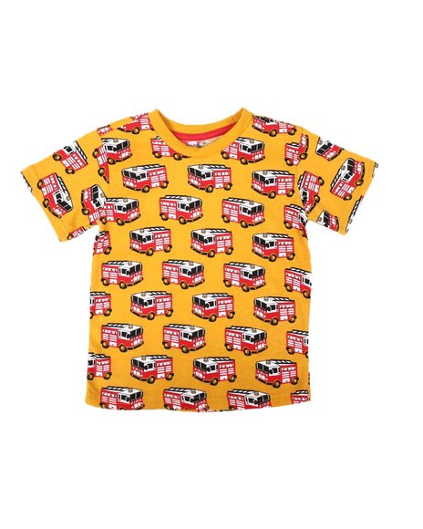 Arcade Styles - All Over Fire Engine Print Tee (2T-4T)