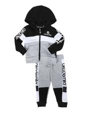 Akademiks - 2 Pc Color Block Zip Hoodie & Jogger Pants Set (4-7)-2686507