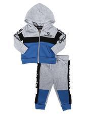 Akademiks - 2 Pc Color Block Zip Hoodie & Jogger Pants Set (Infant)-2686499