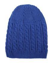 Fashion Lab - Cuffless Cableknit Beanie-2687152