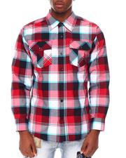 Button-downs - Tri Color Box Plaid Shirt-2686352