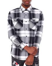 Button-downs - Plaid Flannel Shirt-2686362