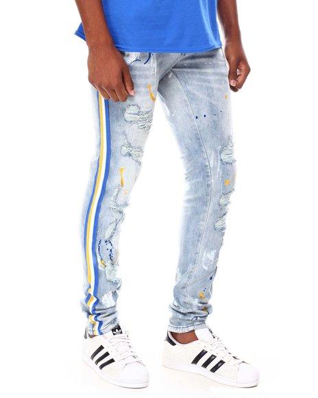 Buyers Picks - Side Strip Paint Splatter Jean