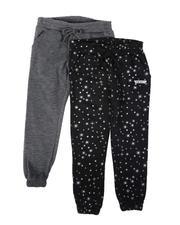 HIND - 2 Pack Spun Poly Fleece Jogger Pants (4-6X)-2686515