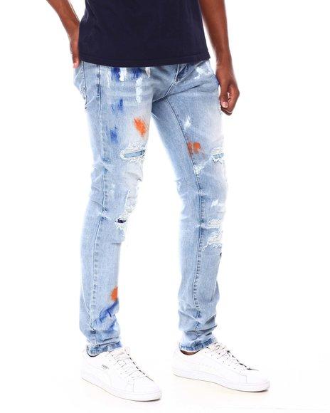 Buyers Picks - Distressed Paint Brush Skinny Jean