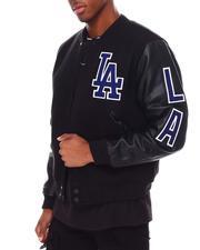 NBA, MLB, NFL Gear - Los Angeles Dodgers Logo Varsity Jacket-2687060
