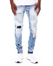 SWITCH - CRACK WASHED DENIM PANTS W/RHINESTONES-2688253