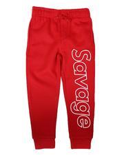 Bottoms - Savage Verbiage Outline Jogger Pants (4-7)-2687592