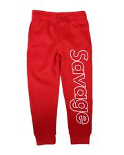Bottoms - Savage Verbiage Outline Jogger Pants (2T-4T)-2688793