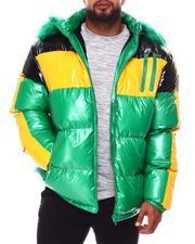 Heavy Coats - Colorblock PU Puffer Coat (B&T)-2688326