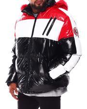 Heavy Coats - Colorblock PU Puffer Coat (B&T)-2688357