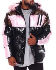 Heavy Coats - Colorblock PU Puffer Coat (B&T)-2688362