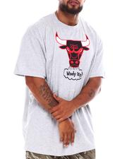 NBA, MLB, NFL Gear - Chicago Bulls Logo Screen T-Shirt (B&T)-2689048