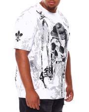 SMOKE RISE - Gothic Fashion Skull T-Shirt (B&T)-2688841