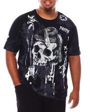 SMOKE RISE - Gothic Fashion Skull T-Shirt (B&T)-2688846