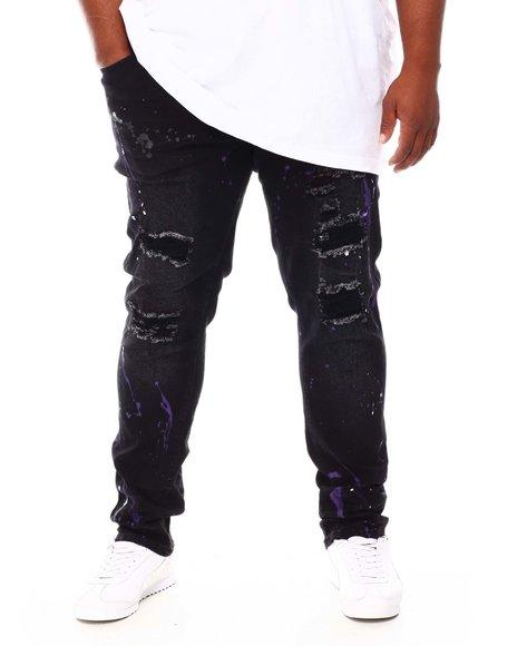 Buyers Picks - Paint Splatter Rip & Repair Stretch Denim Jeans (B&T)