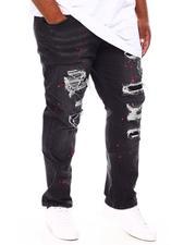 Jeans & Pants - Paint Splatter Rip & Repair Stretch Denim Jeans (B&T)-2688860