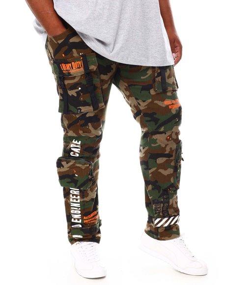 SMOKE RISE - Utility Cargo Pocket Twill Pants (B&T)