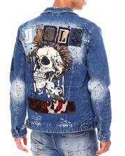 SMOKE RISE - Old English Punk Denim Jacket-2687936