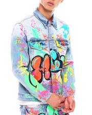 Mackeen - Krewl Graffiti Denim Jacket-2688014
