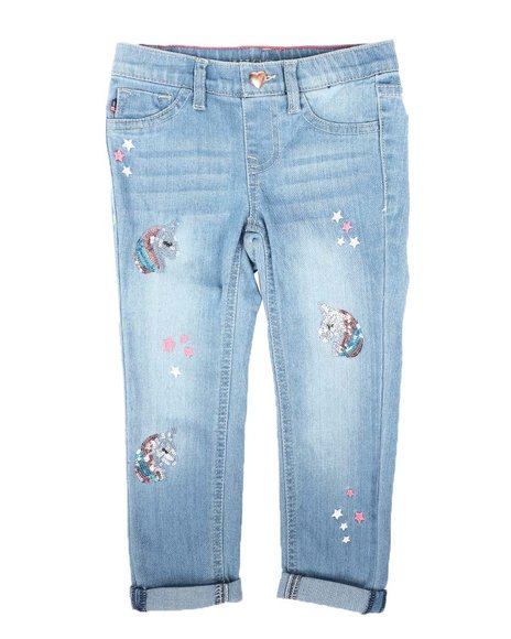 Vigoss Jeans - Unicorn Star Pull-On Skinny Jeans (4-6X)