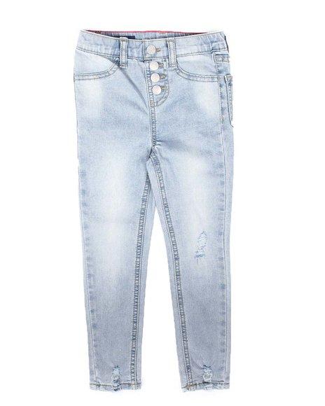 Vigoss Jeans - High Rise Jeggings W/ Destructed & Button Details (4-6X)