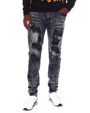 Jeans & Pants - Ripped Jean w Rhinestone Patches-2689948