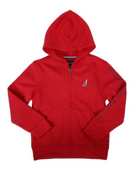 Nautica - Sleeve Logo Zipped Hoodie (8-20)