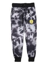 Arcade Styles - Tie Dye Fleece Jogger Pants (8-18)-2689588