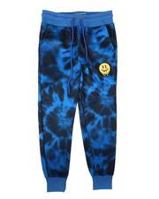 Arcade Styles - Tie Dye Fleece Jogger Pants (8-18)-2689600