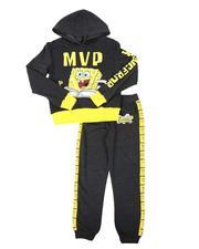 Arcade Styles - 2 Pc SpongeBob MVP Two Tone Hoodie & Jogger Pants Set (8-20)-2689767
