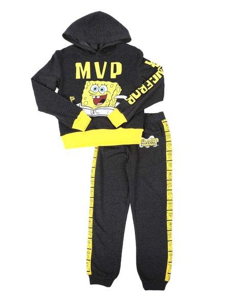Arcade Styles - 2 Pc SpongeBob MVP Two Tone Hoodie & Jogger Pants Set (8-20)