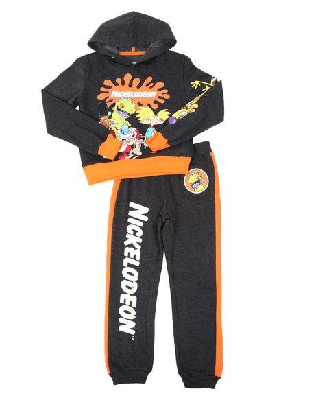 Arcade Styles - 2 Pc Nickelodeon 90's Two Tone Hoodie & Jogger Pants Set (8-20)