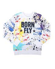 Boys - Splatter Print Fleece Crew Neck Pullover Sweatshirt (8-20)-2689777