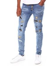 Jeans & Pants - Ripped Jean w Rhinestone Patches-2689970
